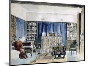 Interior of Kelmscott Manor, Oxfordshire, late 19th century by William Morris