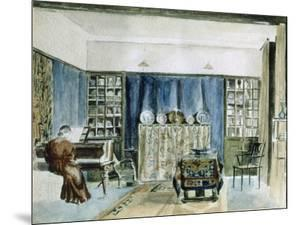 Interior of Kelmscott Manor (W/C on Paper) by William Morris