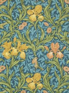 Iris Wallpaper, Paper, England, Late 19th Century by William Morris