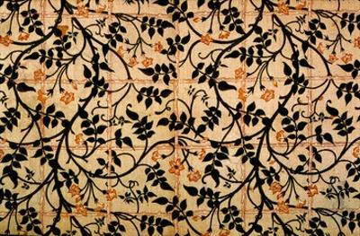 Jasmine Trail Curtain Design, 1868-70 (Printed Cotton) by William Morris