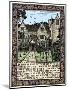 Kelmscott Manor, Gloucestershire, frontispiece to News from Nowhere, c1892 (1901) by William Morris