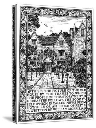 Kelmscott Manor, Gloucestershire, Frontispiece to News from Nowhere, C1892