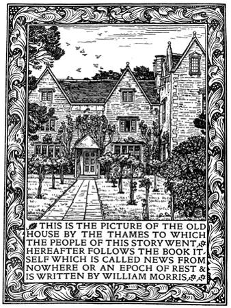 Kelmscott Manor, Gloucestershire, Frontispiece to News from Nowhere, C1892 by William Morris