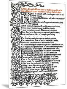'Kelmscott Press: Page from The Tale of Beowulf Printed in the Troy Type', c.1895, (1914) by William Morris