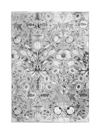 Lily and Pomegranate Pattern Wallpaper, 1887