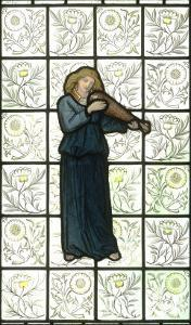 Minstral on Stained Glass Window by William Morris