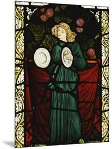Minstrel Angel with Cymbals, for the East Window of St. John's Church, Dalton Yorkshire by William Morris