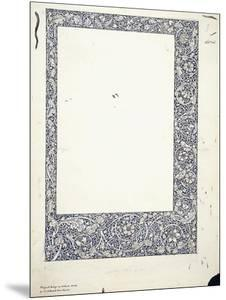 Original Drawing for a Full-Page Border by William Morris
