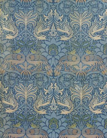 """Panel Entitled """"Peacock and Dragon"""", 1878 by William Morris"""