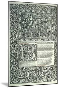 Scene from 'Troilus and Criseyde' by William Morris