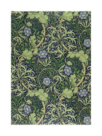 Seaweed Wallpaper Design, printed by John Henry Dearle