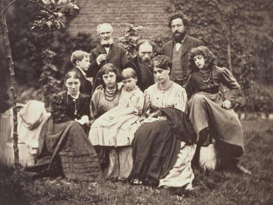 William Morris Sir Edward Burne-Jones and Their Families, 1874-Frederick Hollyer-Giclee Print
