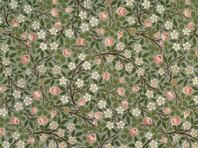 Small Pink and White Flower Wallpaper Design by William Morris