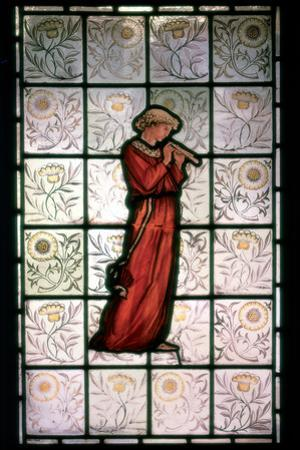 Stained Glass, Minstrel, 1882-1884 by William Morris