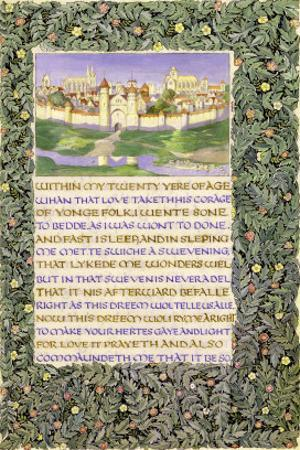 The Romaunt of the Rose, circa 1890 by William Morris