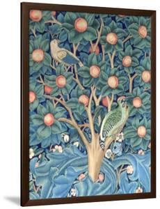 The Woodpecker Tapestry, Detail of the Woodpeckers, 1885 (Tapestry) by William Morris