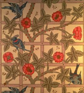 """Trellis"" Wallpaper Design, 1864 by William Morris"