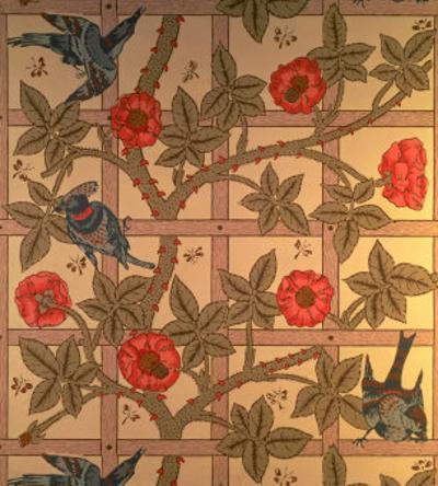 """""""Trellis"""" Wallpaper Design, 1864 by William Morris"""