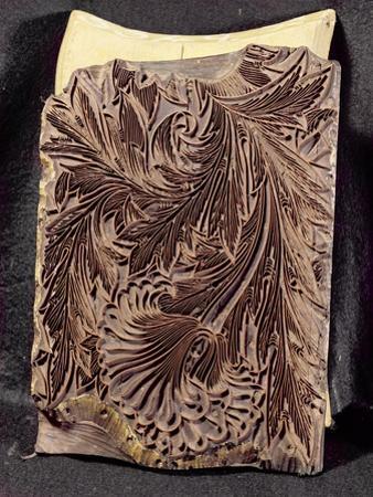 Tulip Design Printing Block, 1875 by William Morris