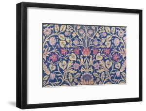 Violet and Columbine Furnishing Fabric, Woven Wool and Mohair, England, 1883 by William Morris