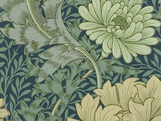 William Morris Wallpaper Sample With Chrysanthemum 1877 Giclee Print By