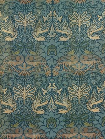 William Morris Peacock and Dragon Textile Design, C.1880