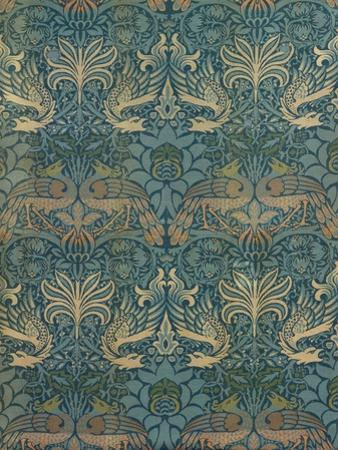 William Morris Peacock and Dragon Textile Design, C.1880 by William Morris