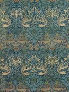 William Morris Peacock and Dragon Textile Design, C.1880 by William Morris
