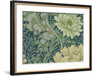William Morris Wallpaper Sample with Chrysanthemum, 1877 by William Morris