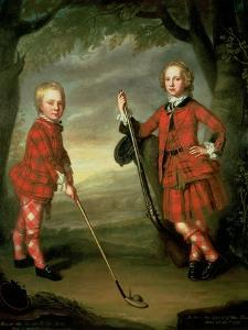 The Macdonald Boys: Sir Alexander Macdonald (C.1745-95) 9th Baronet of Sleat and 1st Baron of Slate by William Mosman