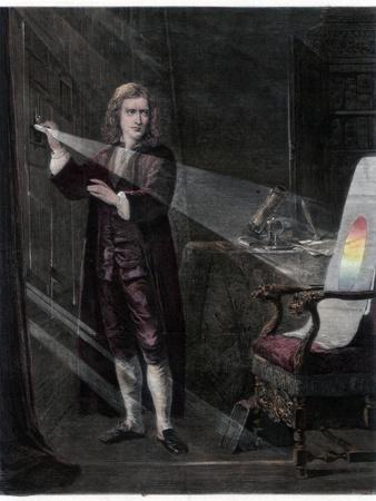 Newton Investigating Light, 1870