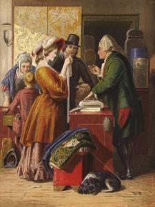 Choosing the Wedding Gown by William Mulready