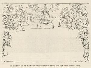 Facsimile of the Mulready Envelope, Designed for the Penny Post by William Mulready