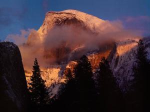 Half Dome, Winter Sunset, Yosemite by William Neill