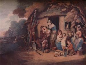 'The Husbandman's - Saturday Evening:  Return from Labour', c1789 by William Nutter