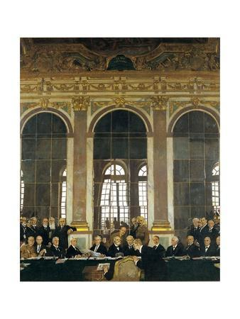The Signing of Peace in the Hall of Mirrors, Versailles, June 28, 1919 (The Peace of Versailles)