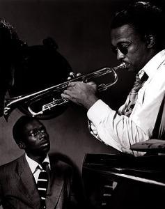 Howard McGhee and Miles Davis by William P^ Gottlieb