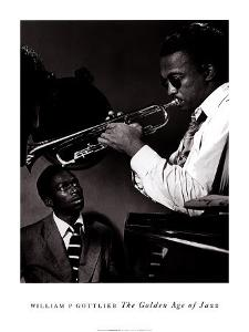 Howard McGhee and Miles Davis by William P^ Gottlieb