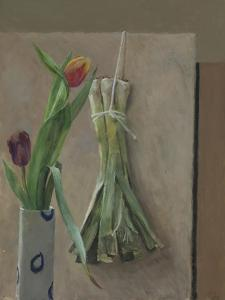 Leeks Suspended, 2014 by William Packer