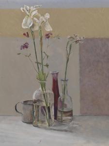 Tall White Irises, 2009 by William Packer
