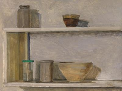 Two Shelves and Bowls