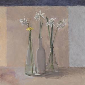 White Daffs & Dandelion, 2009 by William Packer
