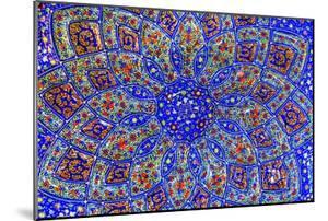 Ancient Arab Islamic Designs Blue Pottery, Madaba, Jordan by William Perry