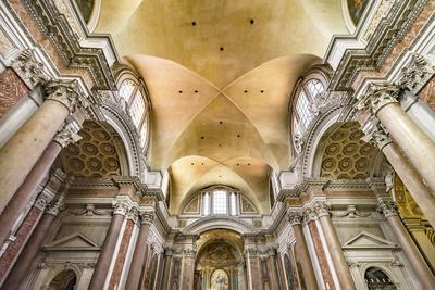 Basilica of Saint Mary Angels and Martyrs, Rome, Italy. Church designed by Michelangelo.