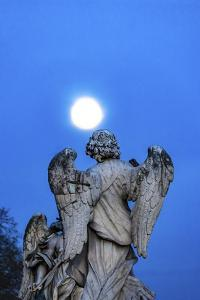 Bernini's Angel, Castel Ponte Sant Angelo, Rome, Italy. by William Perry
