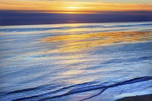Ellwood Mesa Coastline Pacific Ocean Orange Sunset Goleta California by William Perry