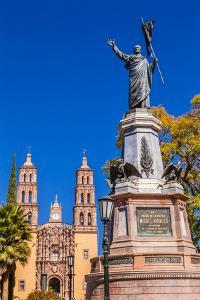 Father Miguel Hidalgo Statue, Parroquia Catedral Dolores Hidalgo, Mexico. by William Perry