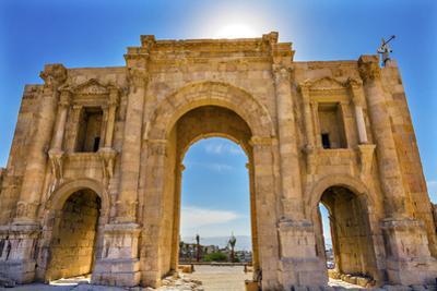 Hadrian's Arch Gate, Jerash, Jordan by William Perry