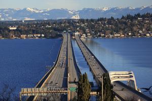 I-90 Bridge, Seattle, Mercer Island, Bellevue, Washington State by William Perry