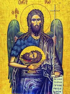 John the Baptist, Saint George's Greek Orthodox Church, Madaba, Jordan. by William Perry